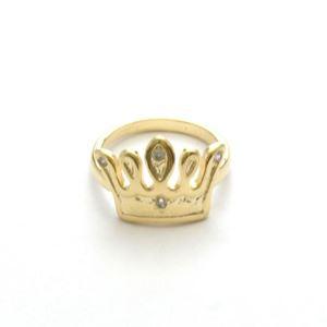 Imagem de Anel coroa com zircônia - 0104652