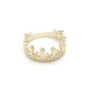 Imagem de Anel coroa cravejado de zircônia - 0104813