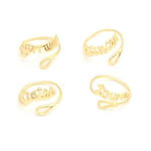 Imagem de Anel escrito signos com aro regulável - 0104891
