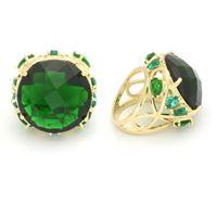 Imagem de Maxi anel pedra 23mm verde natural - 0104944
