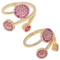 Imagem de Anel com pedras zircônia - 0105072 Pink