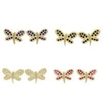 Imagem de Brinco libélula com zircônia - 0516459 Várias Cores