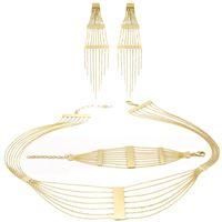 Imagem de Conjunto brinco, colar e pulseira - 1100159