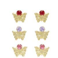 Imagem de Brinco borboleta com pedra strass - 0513714 Cores