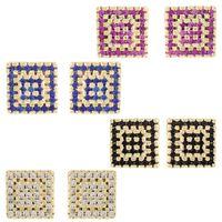 Imagem de Brinco fixo quadrado de zircônia - 0516479 Várias Cores