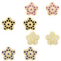 Imagem de Brinco fixo estrela zircônia - 0516511 Várias Cores