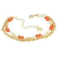 Imagem de Pulseira com pedra cristal - 0403666 Laranja e Amarelo