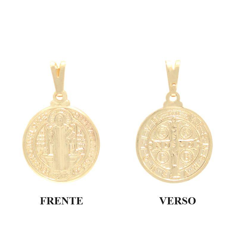 Status Semi Jóias - 35 anos - Pingente medalha São Bento - 0205300 13a408ec88