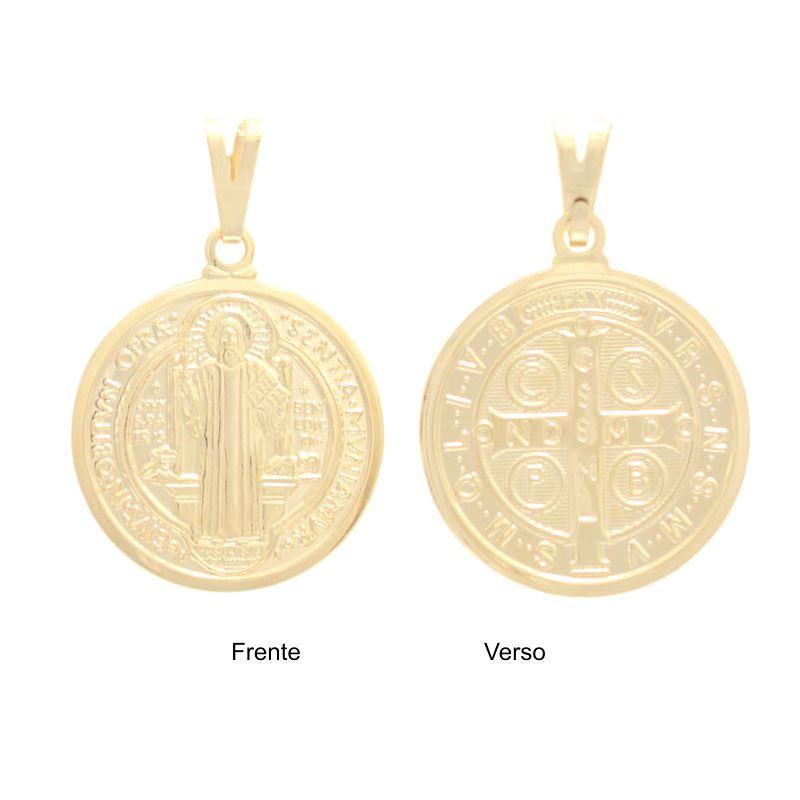 9ff2416762e6f Status Semi Jóias - 35 anos - Pingente medalha São Bento - 0205302