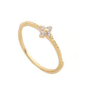 Imagem de Anel flor pedra 2mm de zircônia - 0105344