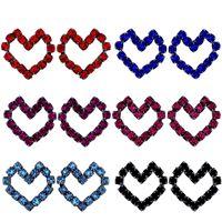 Imagem de Brinco fixo coração pedra strass - 0516988# Várias Cores