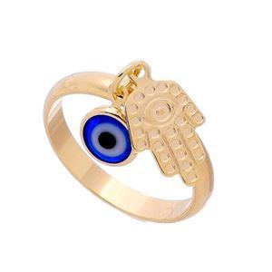Imagem de Anel com olho grego e mão de Fátima - 0105311