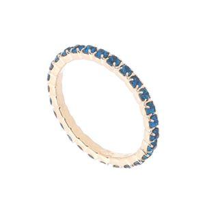 Imagem de Aliança inteira de pedras strass - 0105316 Azul Acqua
