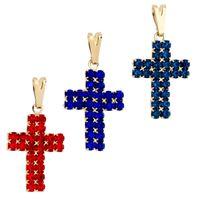 Imagem de Pingente cruz de pedra strass - 0205338 Cores