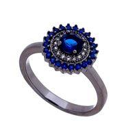 Imagem de Anel com pedra zircônia - 0105443 Azul