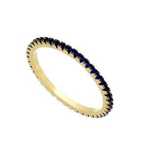Imagem de Anel inteiro de pedras zircônia - 0105481 Azul