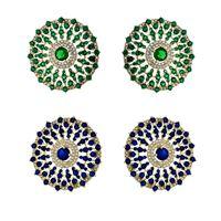 Imagem de Brinco fixo com pedra zircônia - 0517480 Azul e Verde