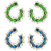 Imagem de Brinco fixo com pedra zircônia - 0517481 Azul e Verde