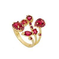 Imagem de Anel com pedras zircônia - 0105390 Pink