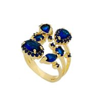 Imagem de Anel com pedras zircônia - 0105390 Azul