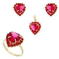 Imagem de Conjunto coração pink e vermelho - 1100171