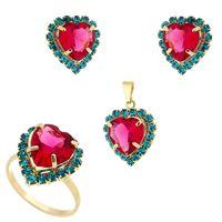 Imagem de Conjunto coração pink e azul claro - 1100170
