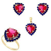Imagem de Conjunto coração pink e azul bic - 1100169