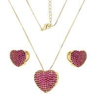 Imagem de Conjunto coração com pedra zircônia - 1100162