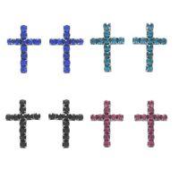 Imagem de Brinco cruz strass - 0517146# Várias Cores