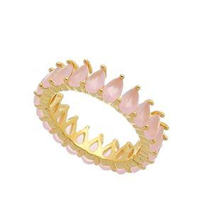 Imagem de Aliança pedra quartzo rosa natural - 0105524