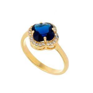 Imagem de Anel pedra natural com zircônia - 0104878 Azul Safira