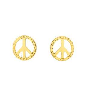Imagem de Brinco fixo símbolo da paz - 0509132