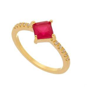 Imagem de Anel com pedra natural com zircônia - 0105579 Pink
