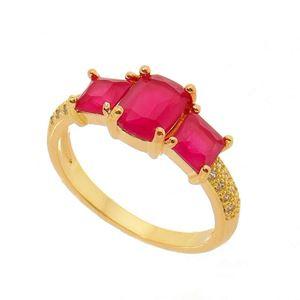 Imagem de Anel pedra natural com zircônia - 0105578 Pink