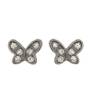 Imagem de Brinco fixo borboleta com strass - 0517815#