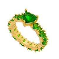 Imagem de Anel com pedra natural coração  - 0105574 Verde