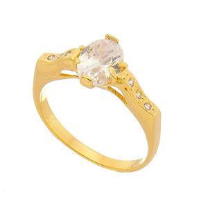 Imagem de Anel com pedra oval de zircônia - 0105593