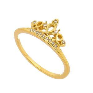 Imagem de Anel coroa com pedras zircônia - 0105547