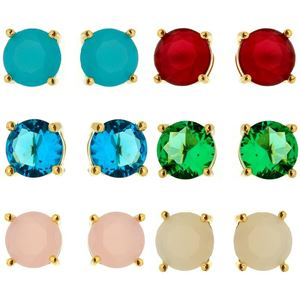 Imagem de Brinco fixo pedra natural G - 0517842 Várias Cores