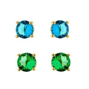 Imagem de Brinco fixo pedra natural M - 0517841 Azul e Verde