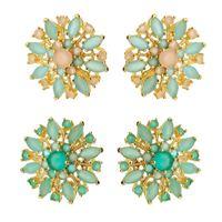 Imagem de Brinco fixo pedra natural - 0517923 Verde e Azul