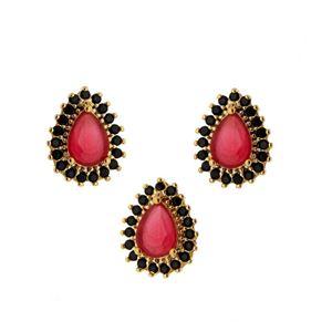 Imagem de Conjunto pedra natural e zircônia - 1100227 Pink