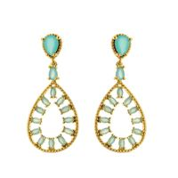 Imagem de Brinco com pedras natural - 0517925 Azul e Rosa