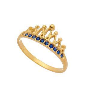 Imagem de Anel coroa zircônia - 0105638 Azul