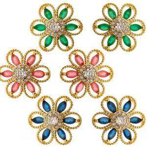 Imagem de Brinco flor pedra natural -  0517965 Várias Cores