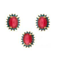 Imagem de Conjunto pedra natural e zircônia -1100234 Pink