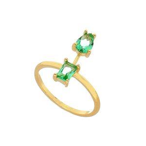 Imagem de Anel com pedras natural - 0105587 Verde Turmalina