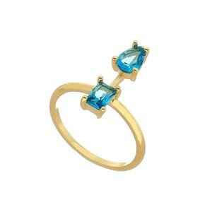 Imagem de Anel com pedras natural - 0105587 Azul Turmalina