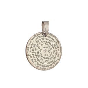 Imagem de Pingente medalha oração do Pai Nosso - 0205334*