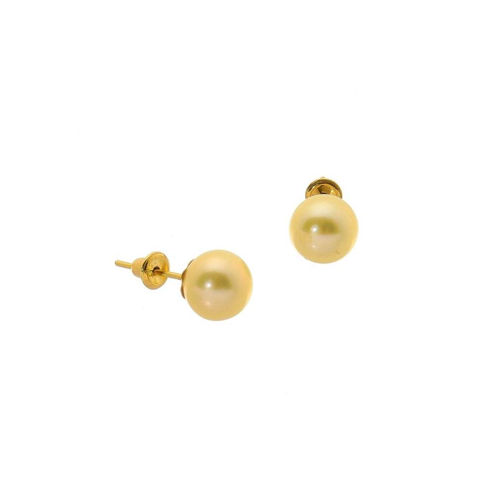 Status Semi Jóias - 35 anos - Brinco Ouro 18k pérola 5mm - 1500019 87635a8516
